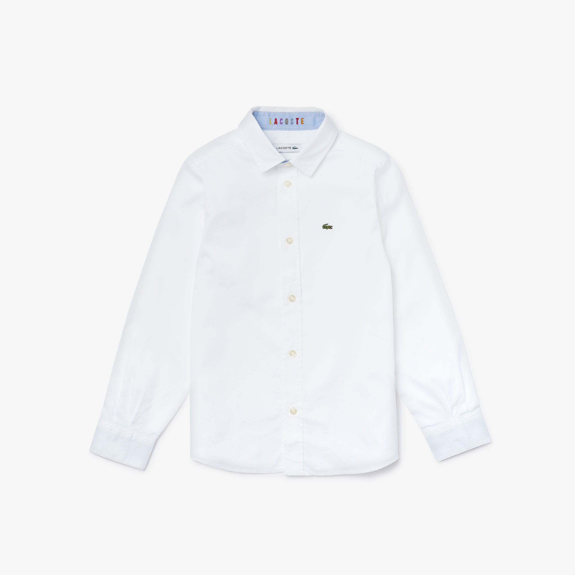 Boys' Contrast Finishes Oxford Cotton Shirt