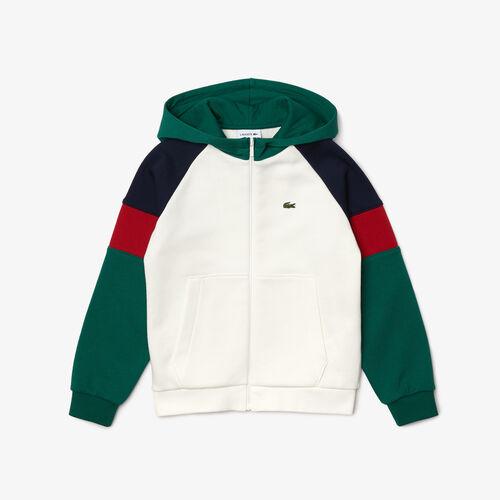 Boys' Hooded Colorblock Fleece Zip Sweatshirt