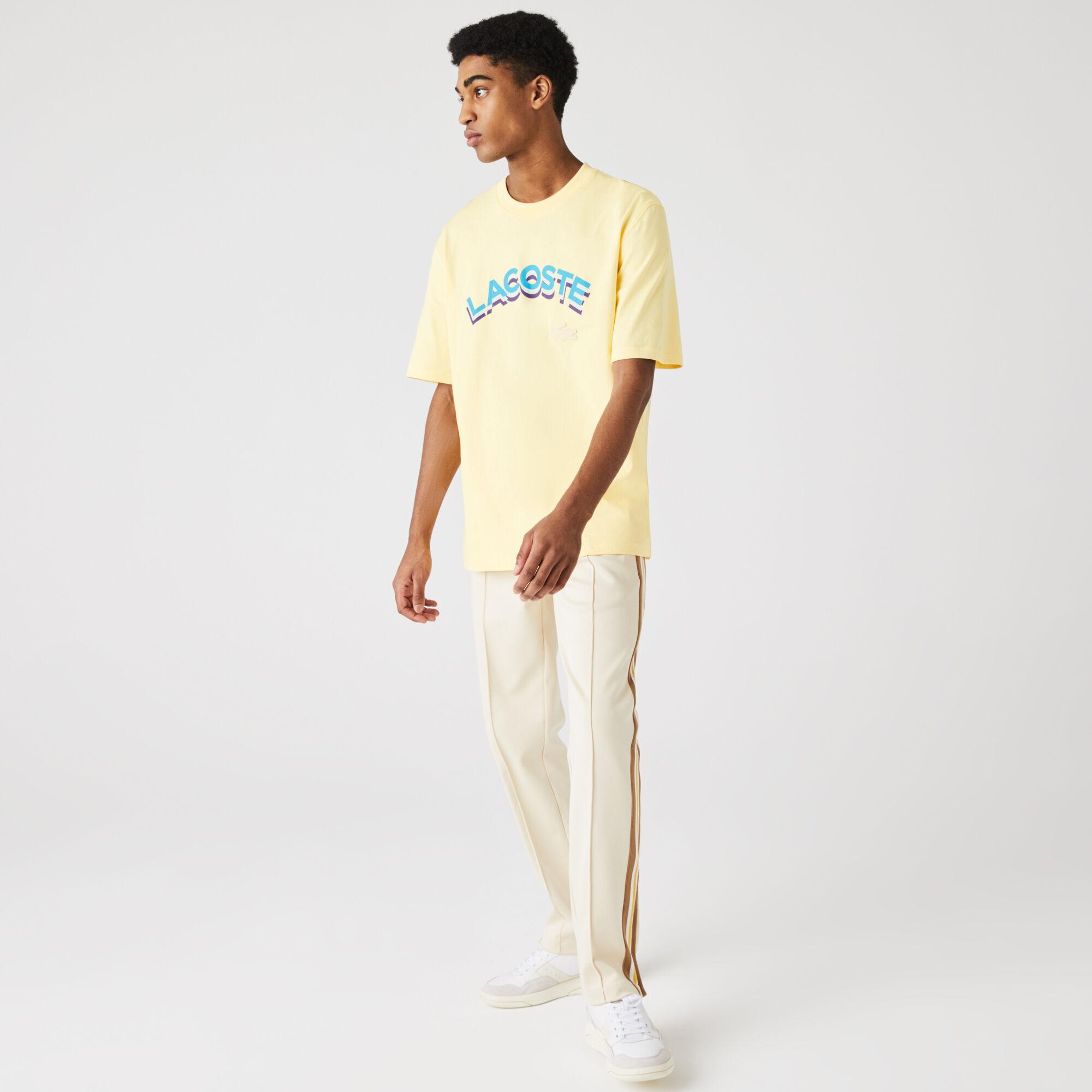 Unisex Lacoste LIVE Loose Fit Lettered Cotton T-shirt