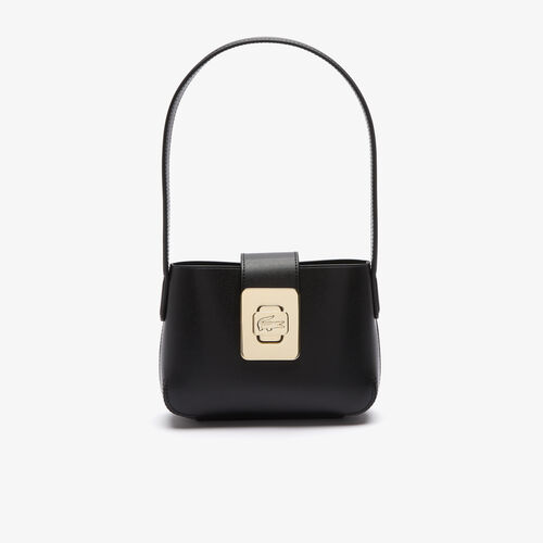 Women's Amelia Engraved Metal Crocodile Leather Baguette Bag