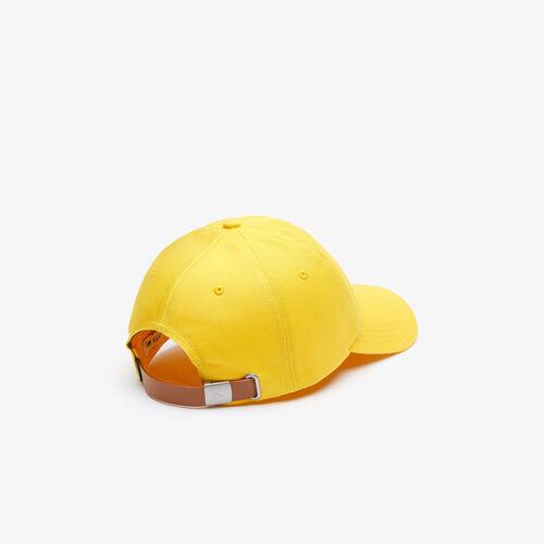 قبعة كاب قطنية بخطوط متباينة اللون وشعار التمساح كبير الحجم للرجال
