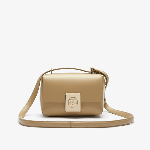 Women's Amelia Engraved Metal Clasp Leather Handbag
