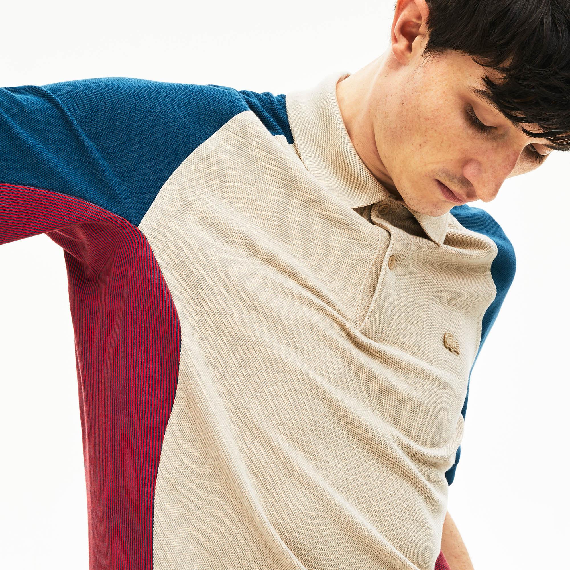 قميص بولو من البيكيه بألوان متعددة من مجموعة Lacoste Colourblock للرجال