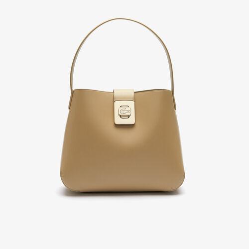 Women's Amelia Metal Clasp Leather Hobo Bag