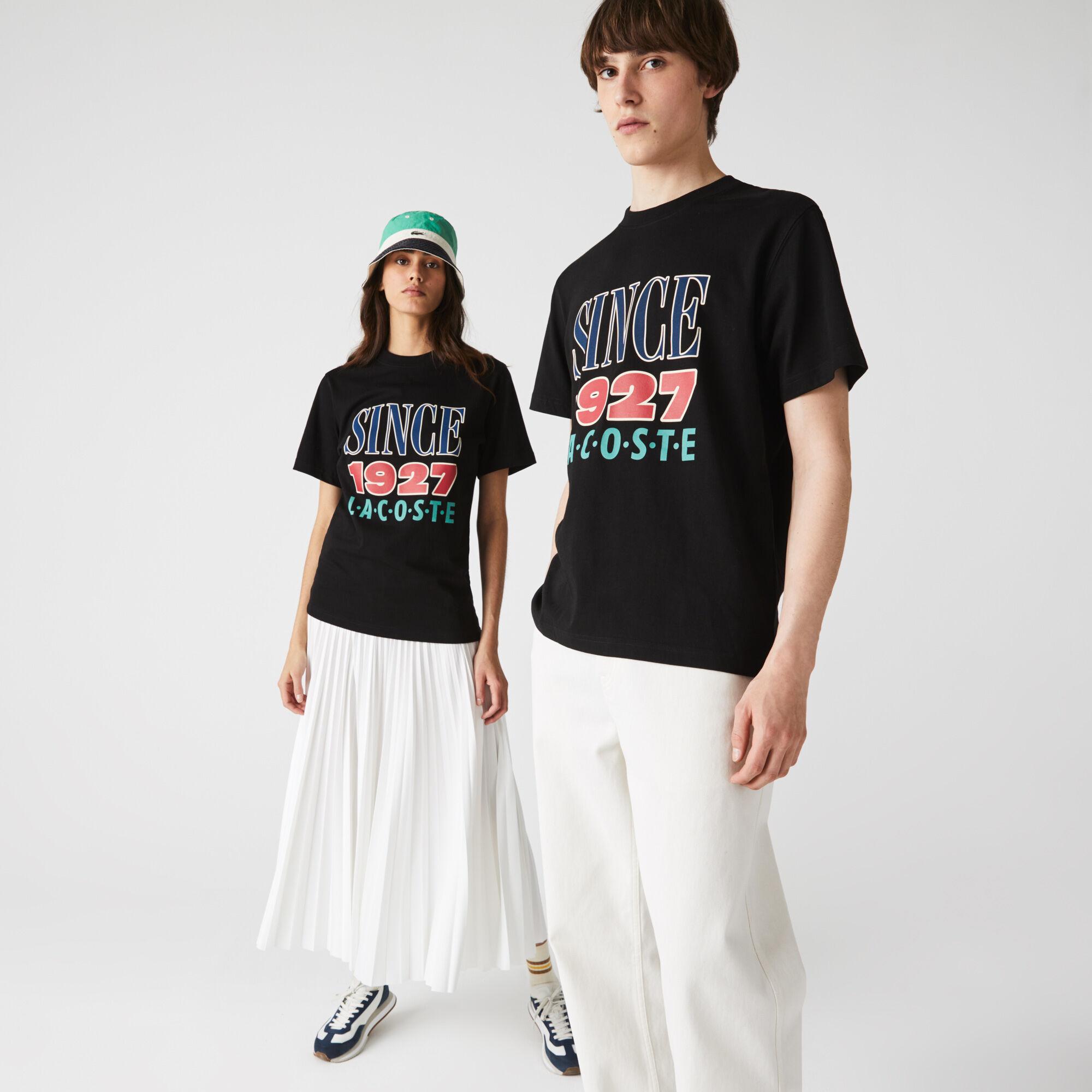Unisex Lacoste LIVE Print Cotton T-shirt