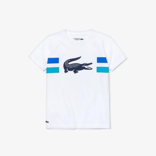 Boys' Lacoste Sport Crocodile Breathable Jersey T-shirt