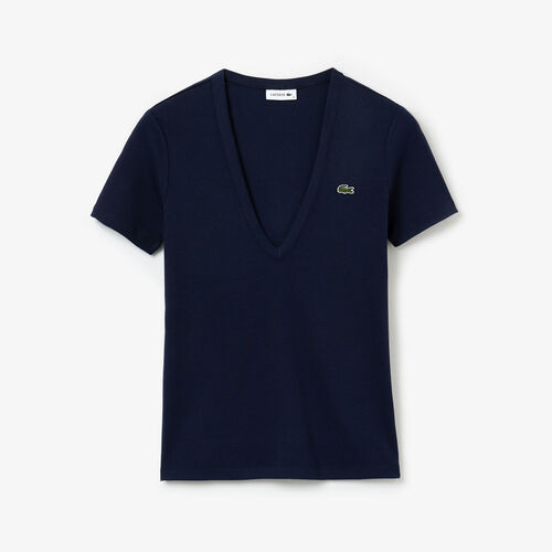 Women's Soft Cotton V-neck T-shirt