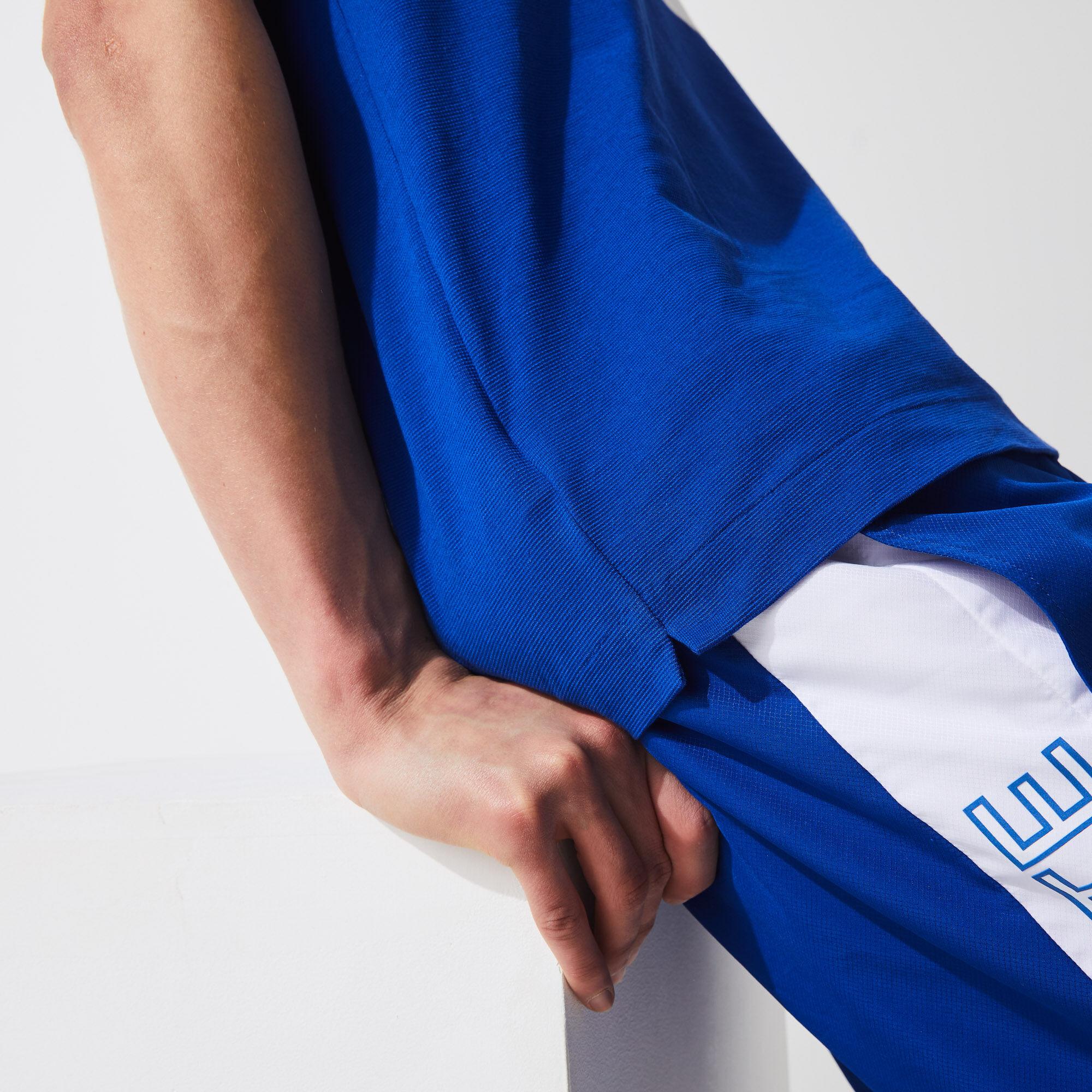 قميص بولو للتنس للرجال فائق الخفة مع كتل لونية مجموعة Lacoste SPORT