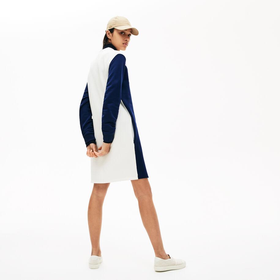 فستان صوف للسيدات بشكل قميص ثقيل ملون