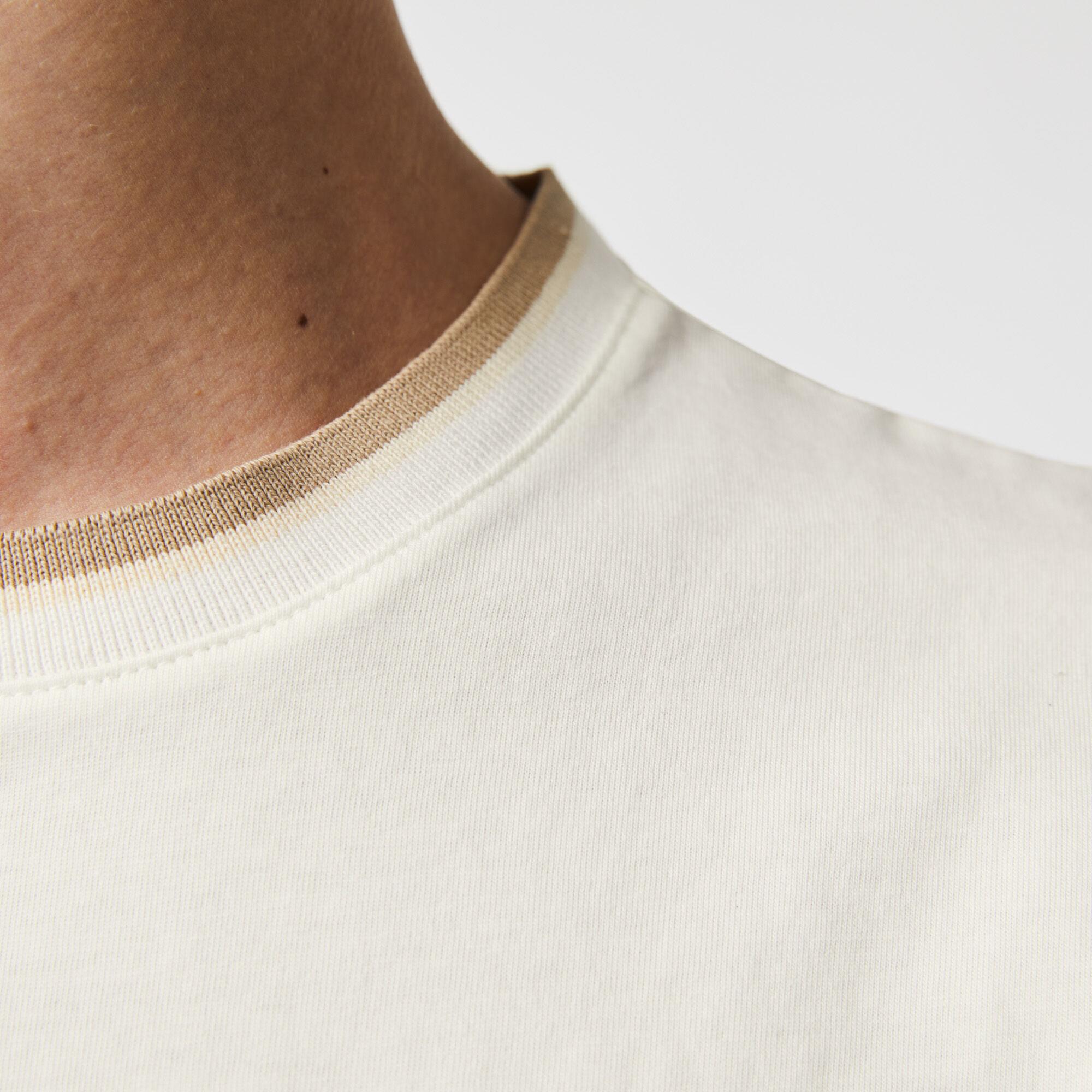 Men's Bicolor Crew Neck Cotton T-shirt