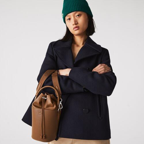 Women's Chantaco Shoulder Strap Small Piqué Leather Bucket Bag