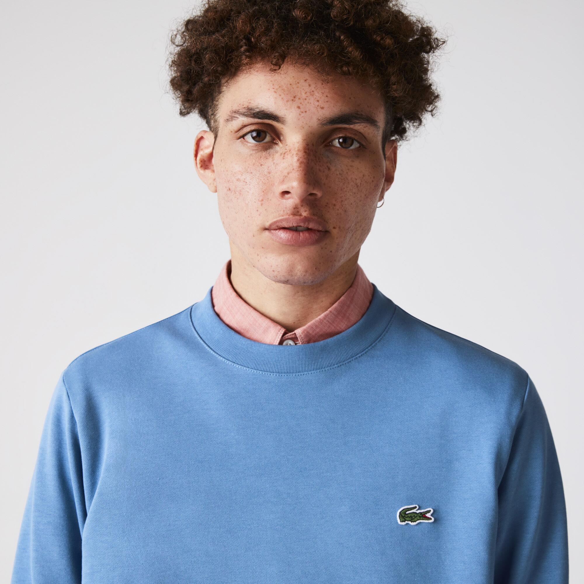 Men's Crocodile Print Organic Cotton Fleece Sweatshirt