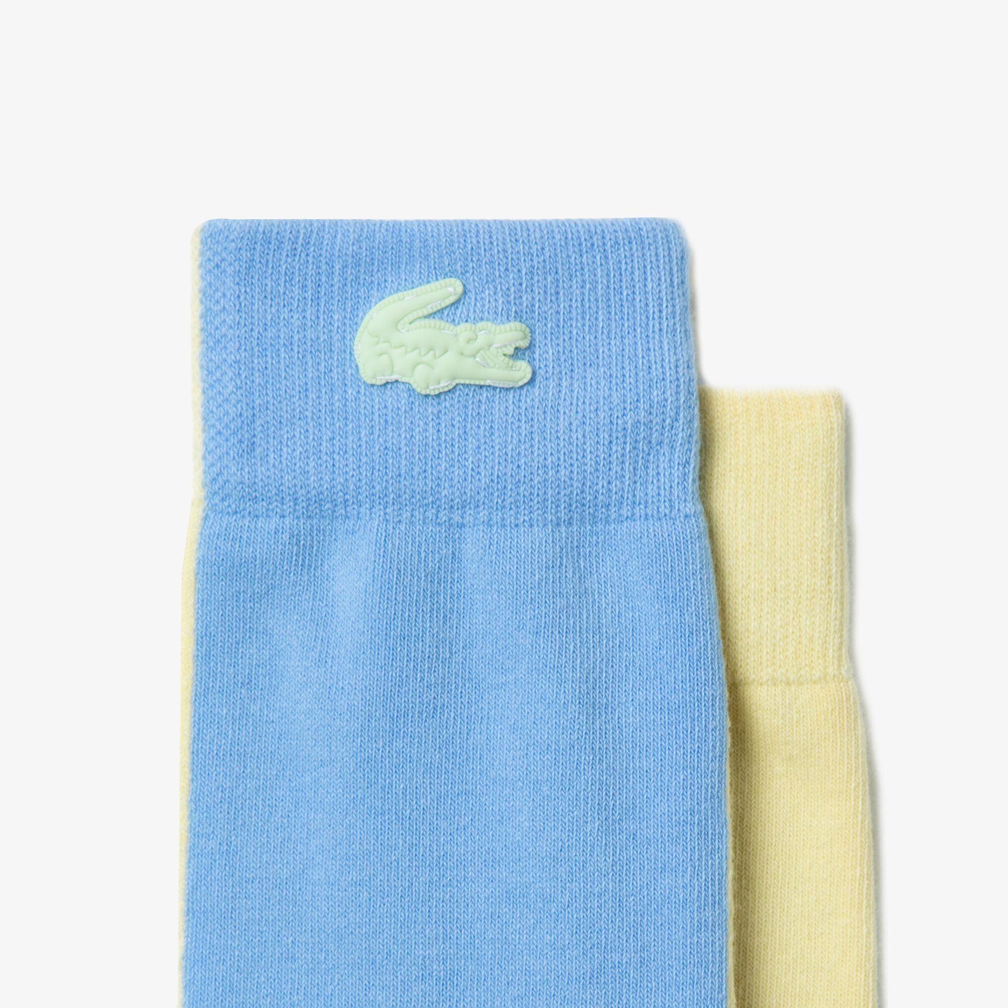 Unisex Lacoste LIVE Bicolor Stretch Cotton Socks