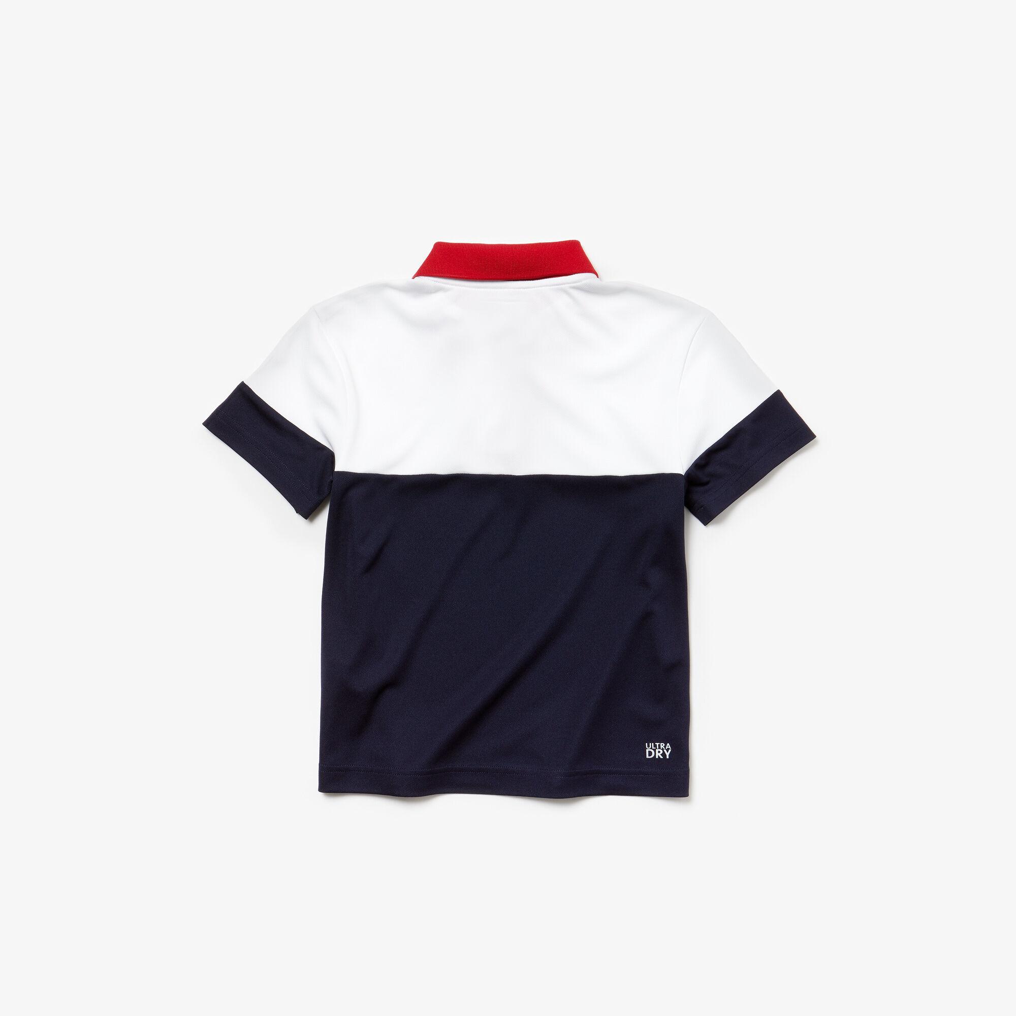 Boys' Lacoste SPORT Colourblock Breathable Piqué Tennis Polo Shirt