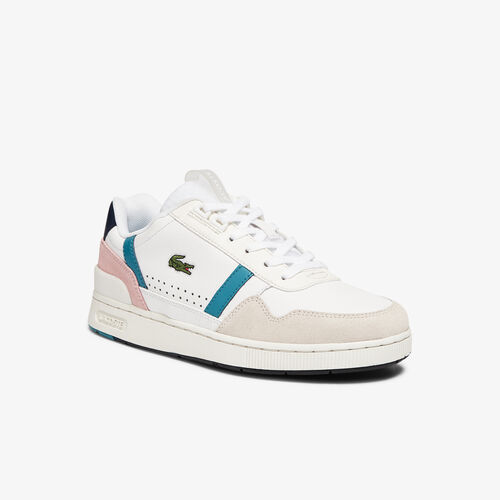 Women's T-clip Leather And Synthetic Trainers