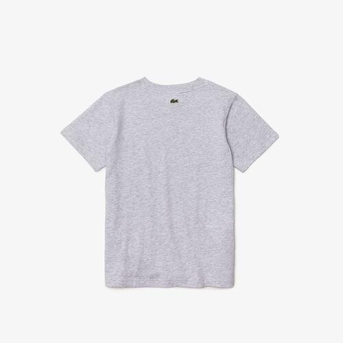Boys' Crew Neck Crocodiles Print Cotton T-shirt