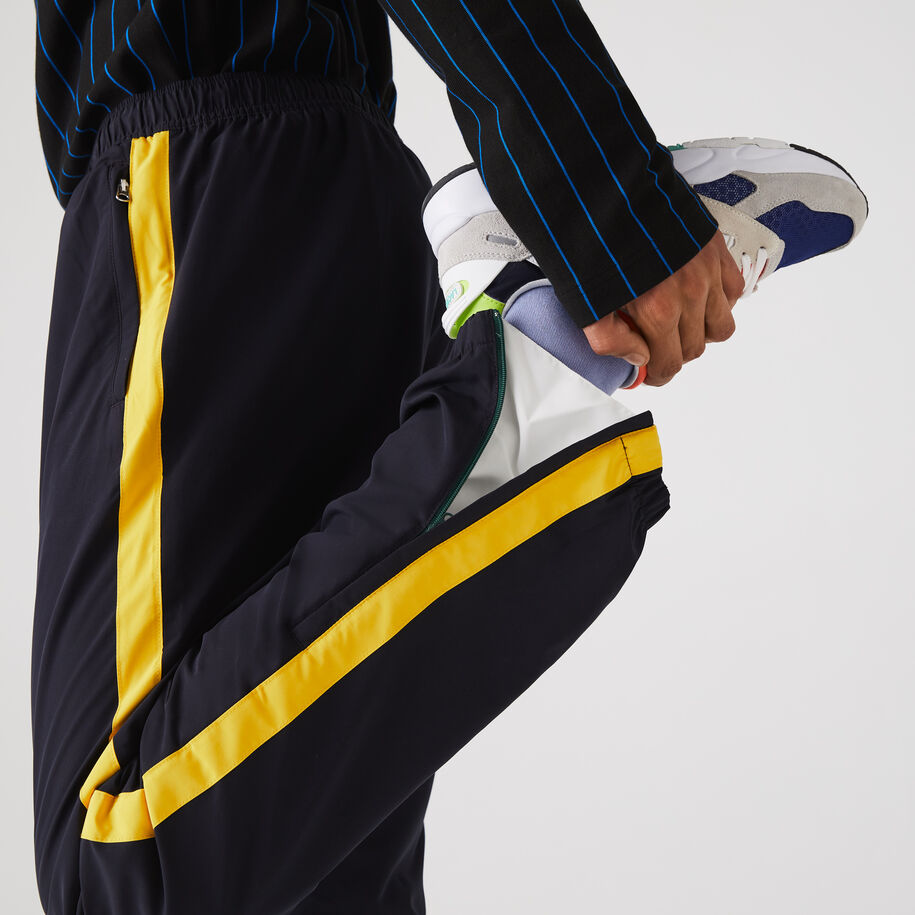 Men's Contrast Striped Water-Repellant Tracksuit Pants