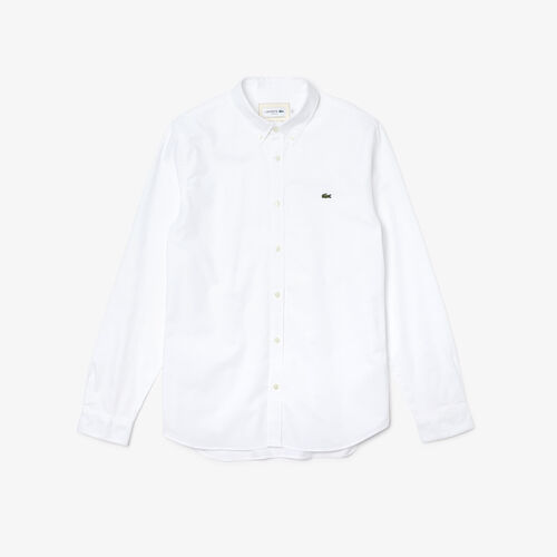 Men's Slim Fit Stretch Oxford Cotton Shirt