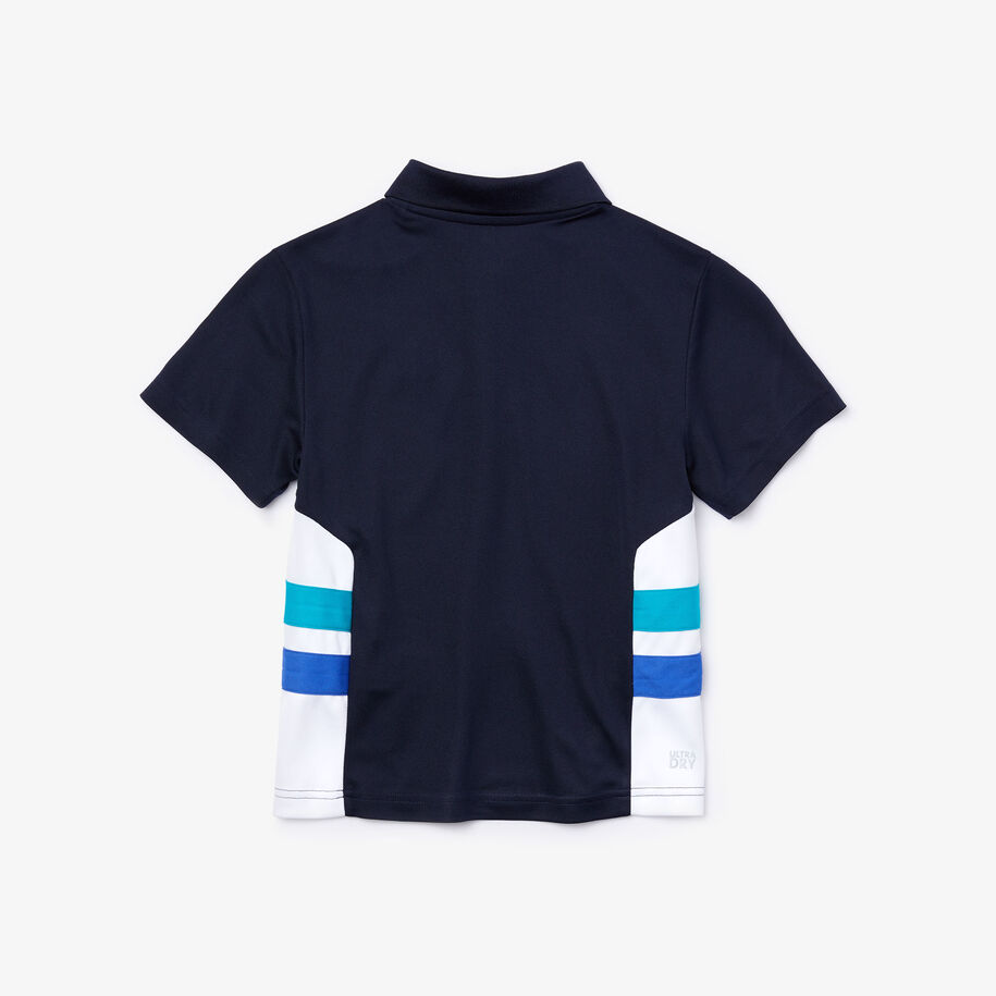 Boy's Lacoste SPORT Breathable Colourblock Tennis Polo Shirt