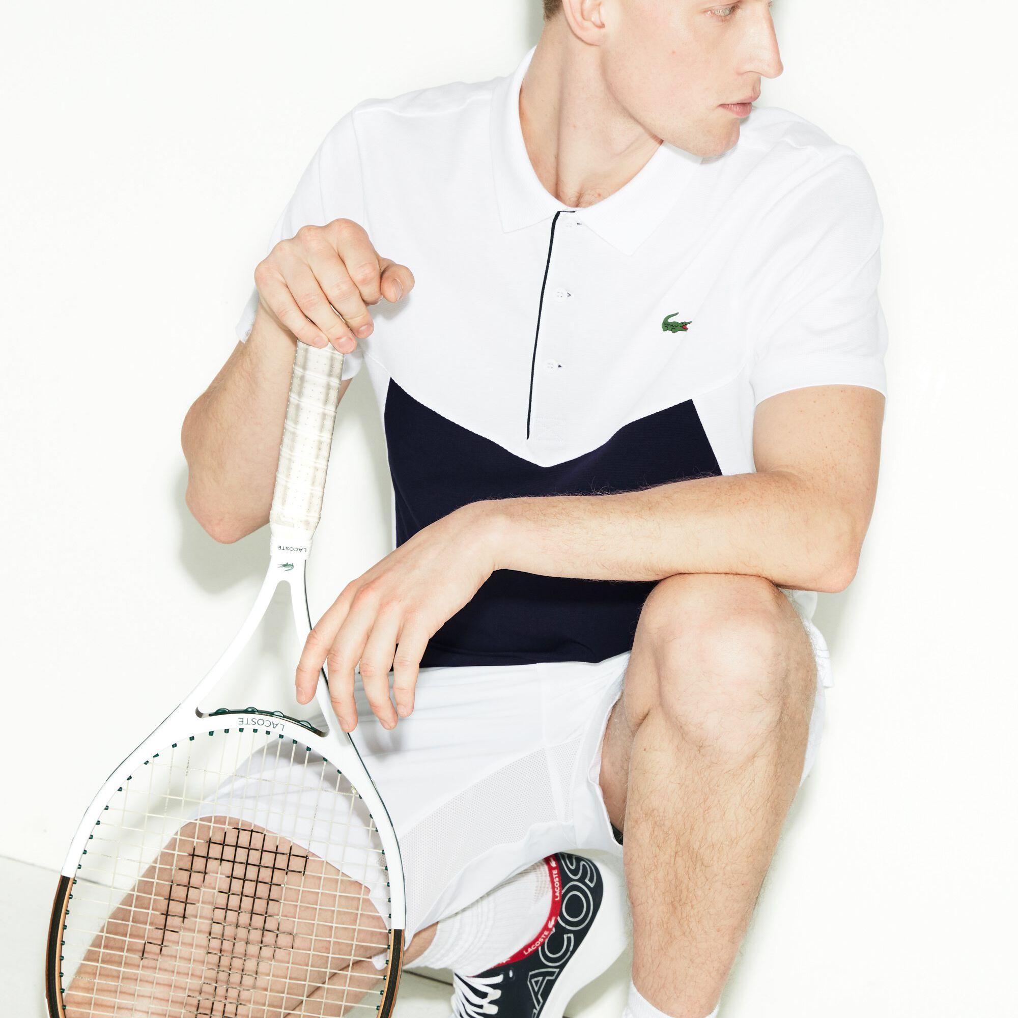 Men's Lacoste SPORT Colourblock Ultra Light Cotton Tennis Polo Shirt