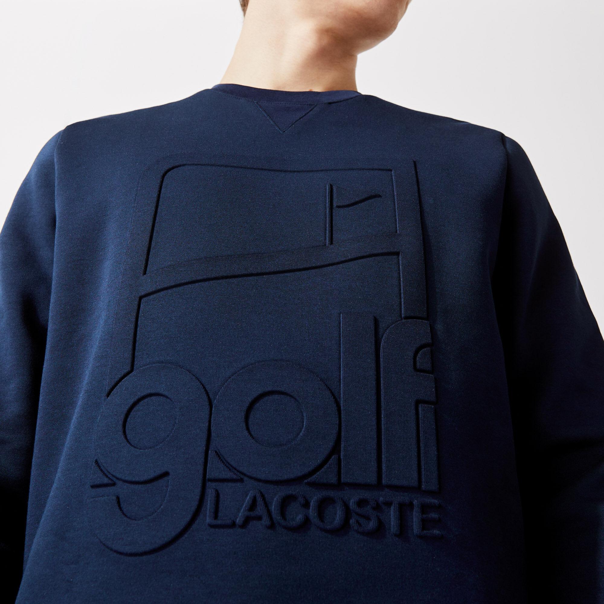 سويت شيرت للجولف مع طباعة رسومية وفتحة رقبة مستديرة مجموعة Lacoste SPORT للرجال