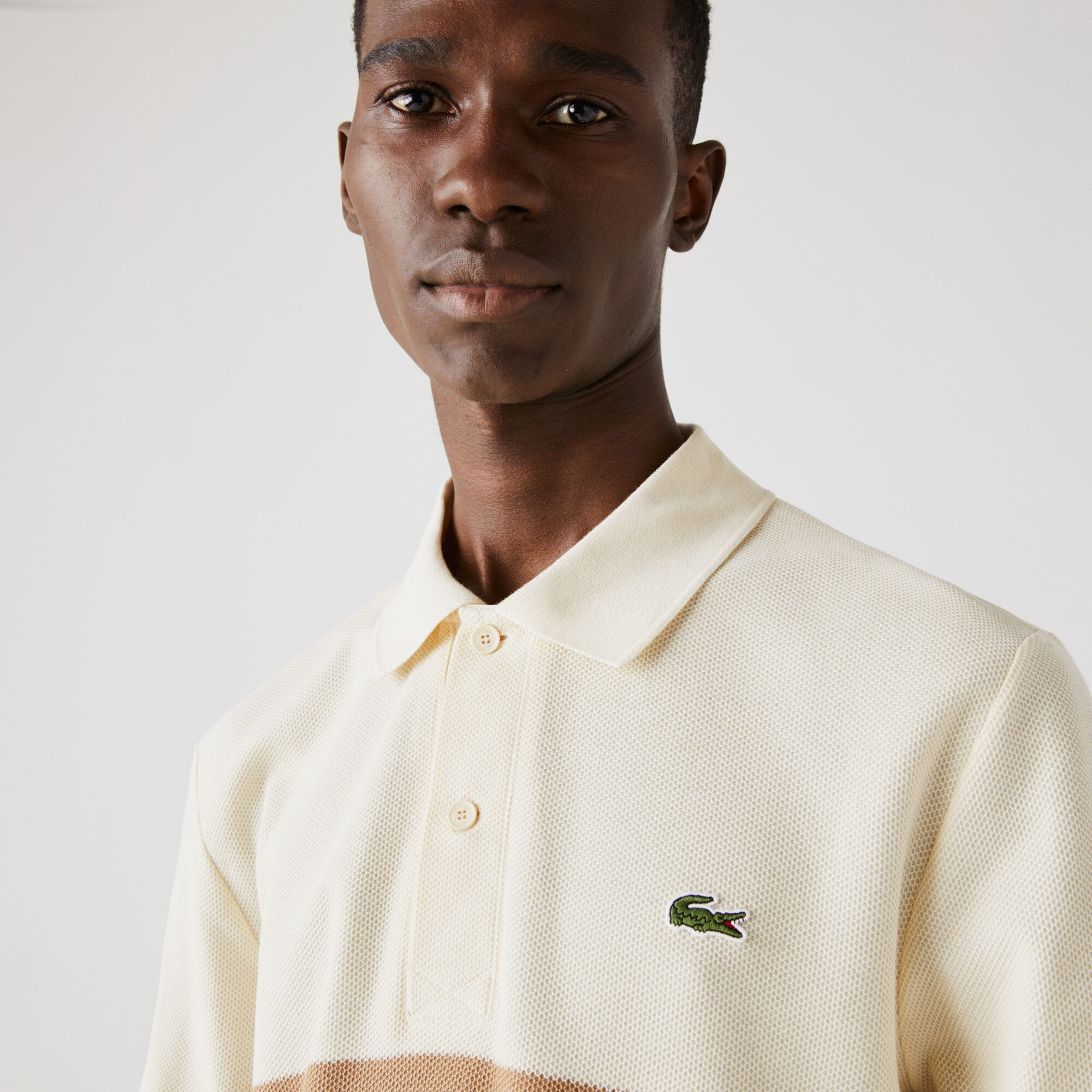 قميص بولو قطن مقلم للرجال قصة كلاسيكية