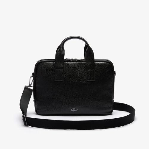 Men's Soft Mate Matte Full-grain Leather Computer Bag