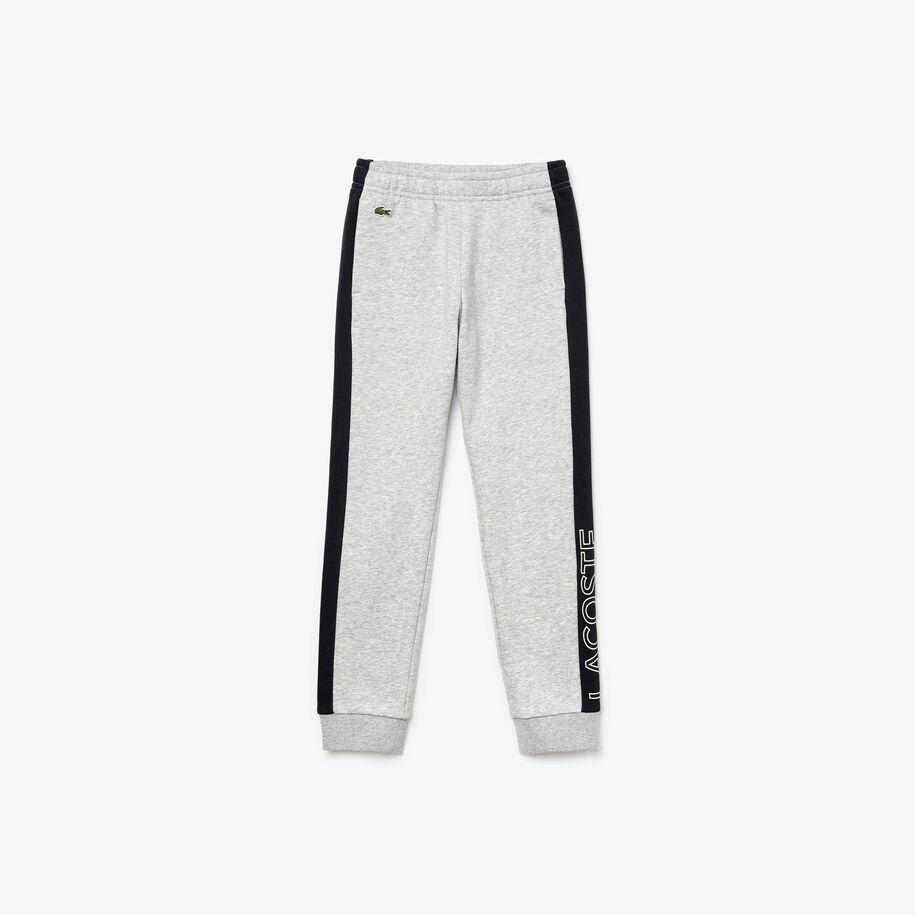 Boys' Lacoste SPORT Colourblock Fleece Trackpants