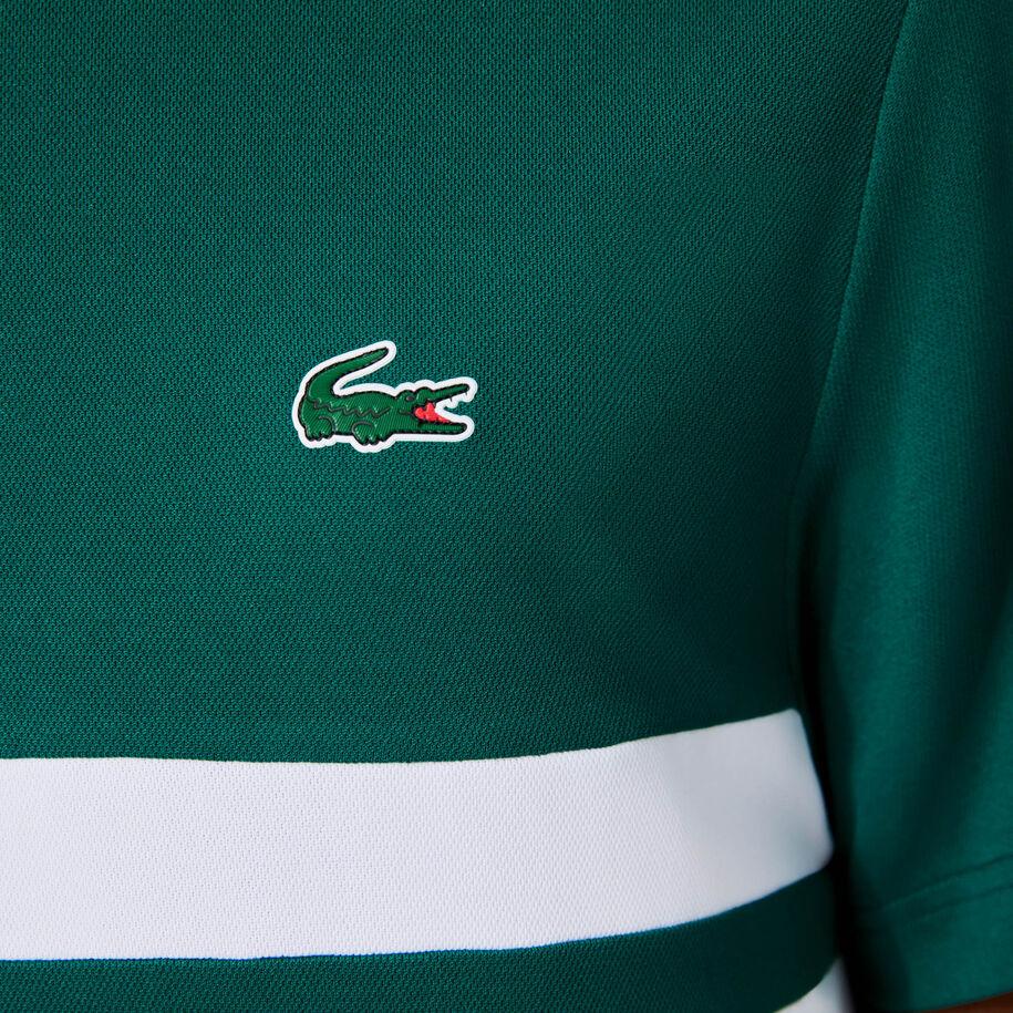 قميص بولو للتنس للرجال من البيكيه المسامي المقاوم مجموعة Lacoste SPORT