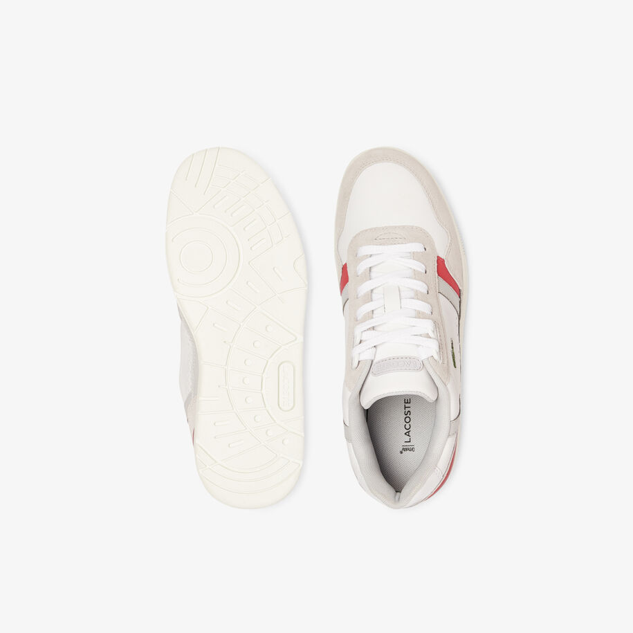 Women's T-Clip Leather and Suede Trainers