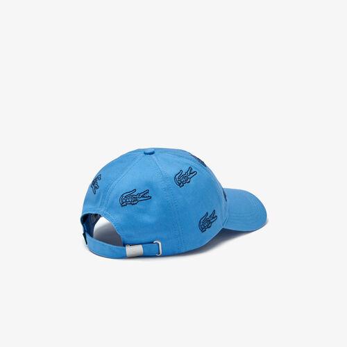 Men's Embroidered Crocodile Cotton Cap