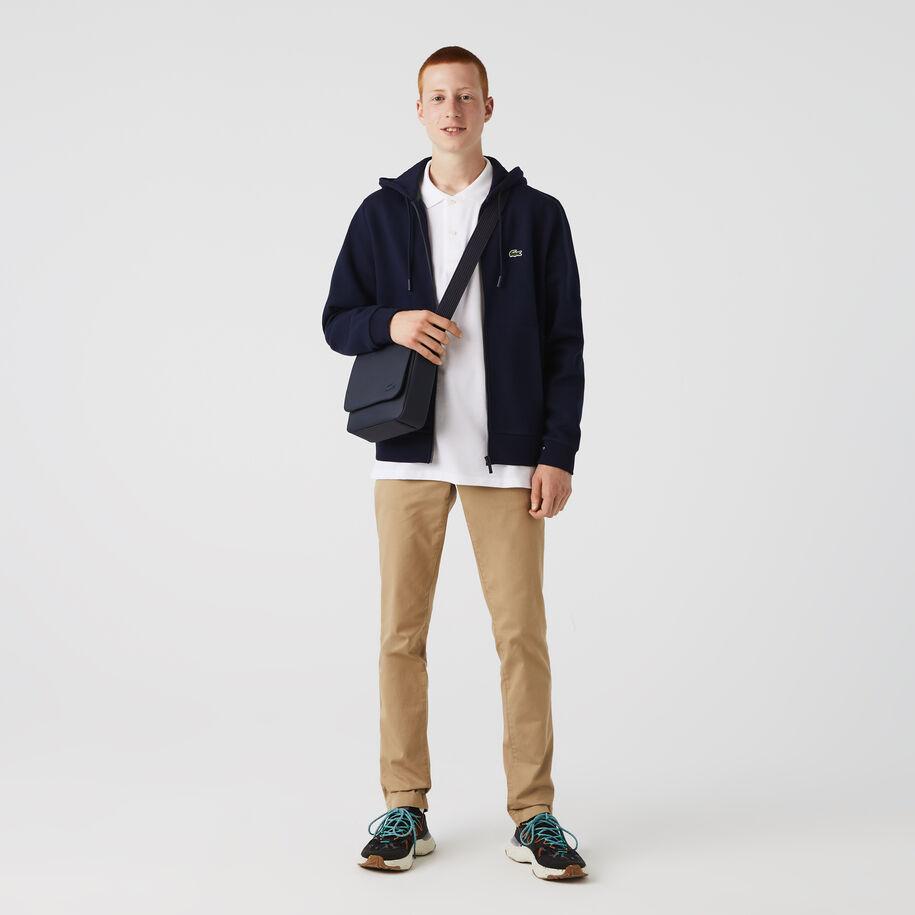 Men's Classic Petit Piqué Flap Bag
