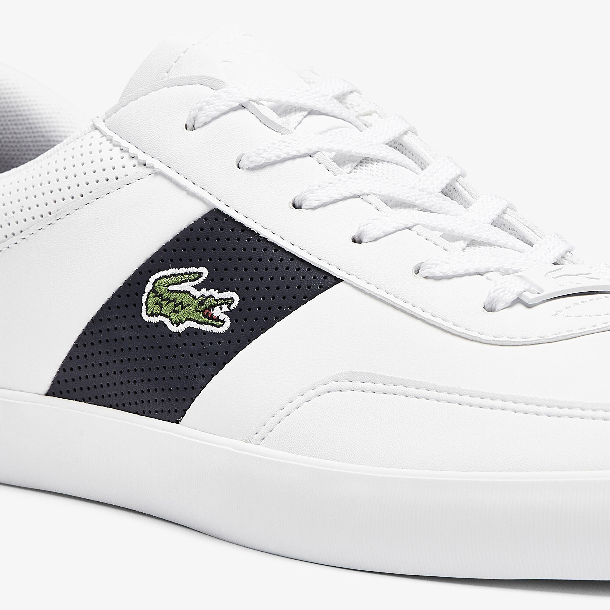 Men's Court-Master Leather and Synthetic Perforated Trainers