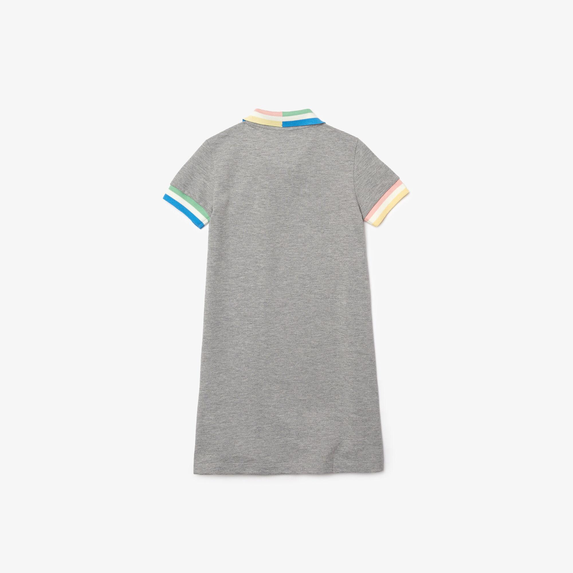 Girls' Colorblock Accents Cotton Piqué Polo Dress