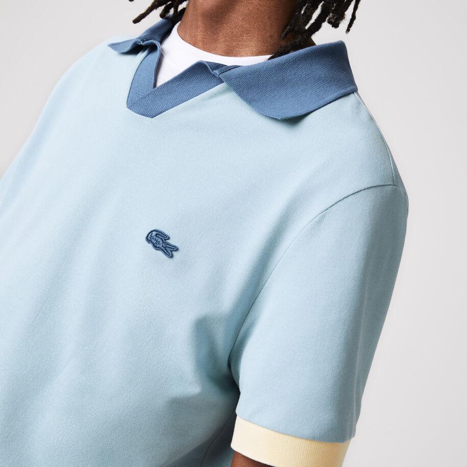 قميص بولو من بيكيه القطن الجديد للرجال قصة عادية