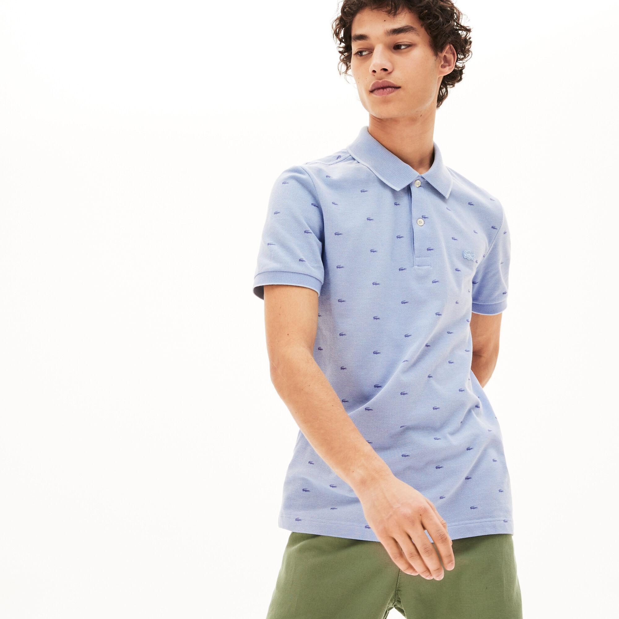 قميص بولو بطبعات صغيرة من Lacosteللرجال