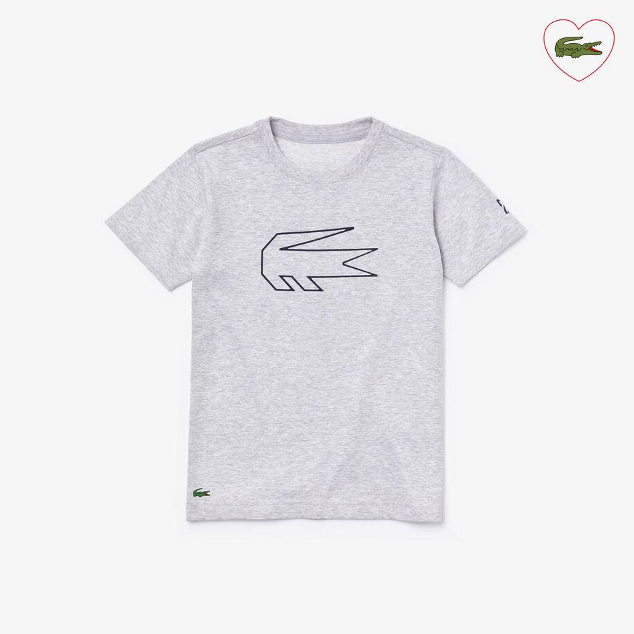 Boys' Lacoste SPORT x Novak Djokovic Crocodile Print T-shirt