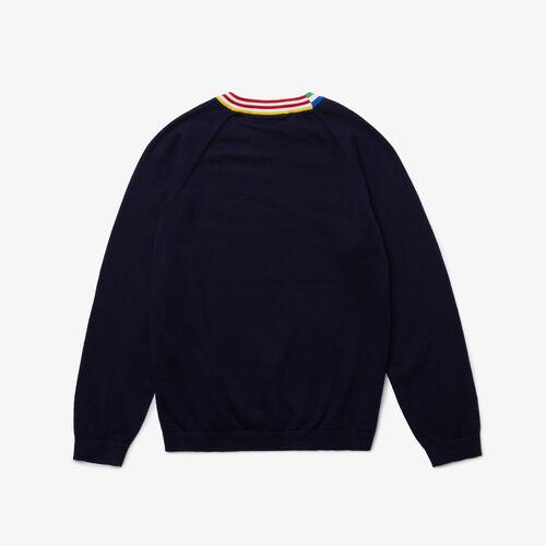 Boys' Striped Collar Jersey  Sweater