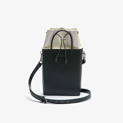 Women's Chantaco Rectangular Piqué Leather Bucket Bag