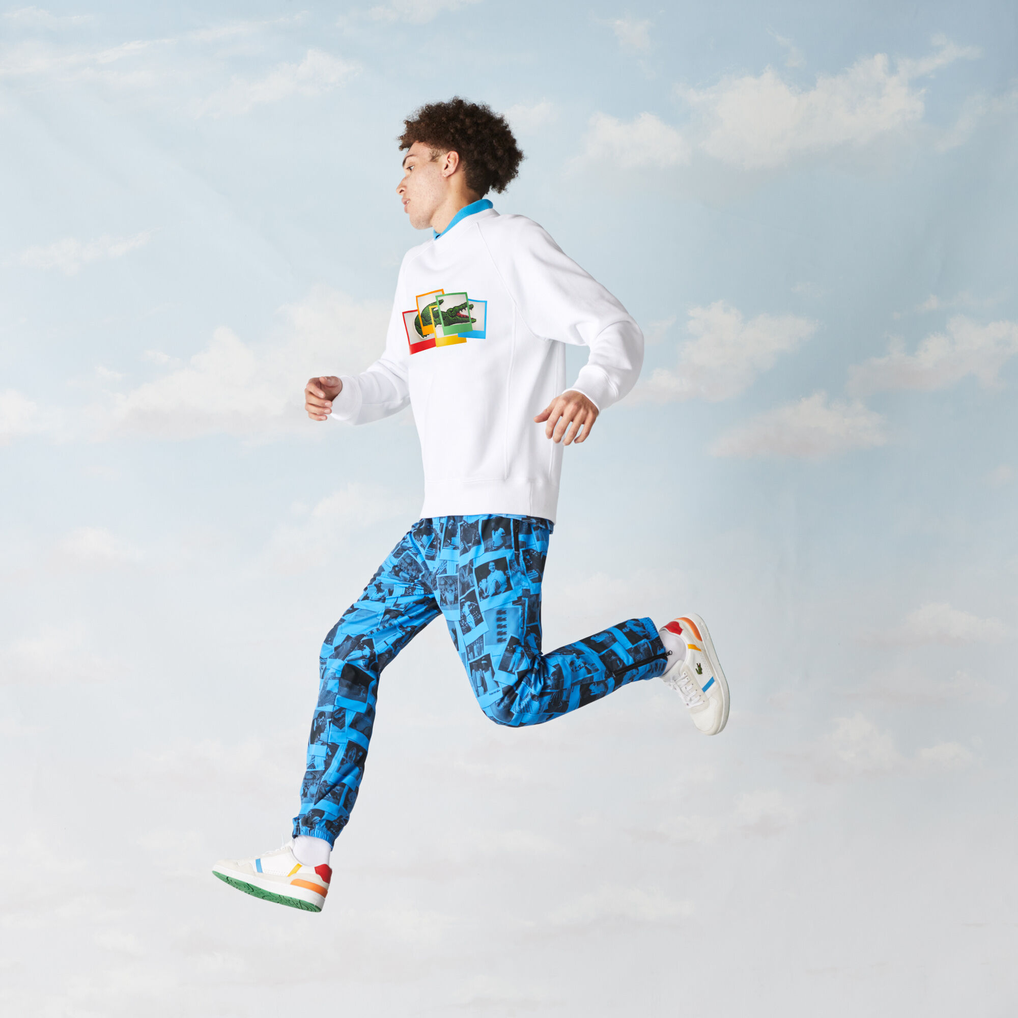 Unisex Lacoste LIVE Polaroid Collaboration Loose Fit Sweatshirt