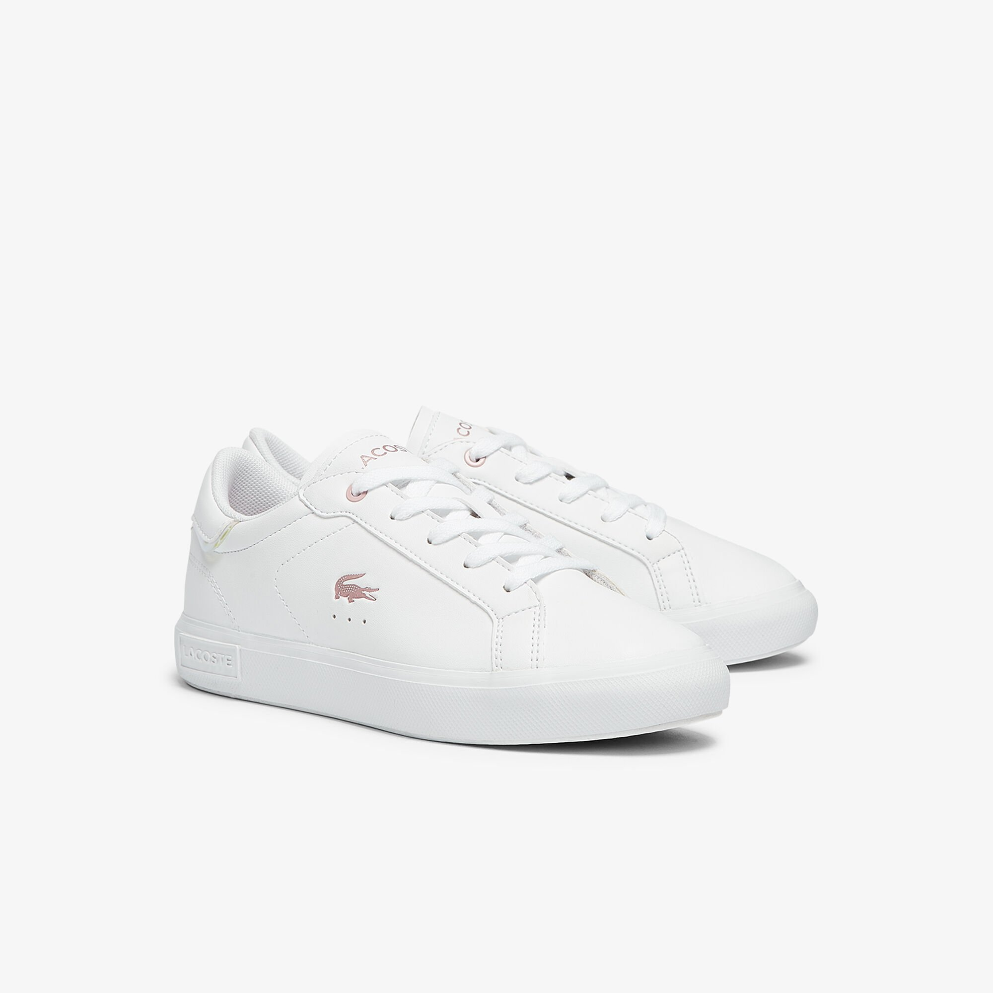 Children's Powercourt Synthetic Metallic Accent Trainers