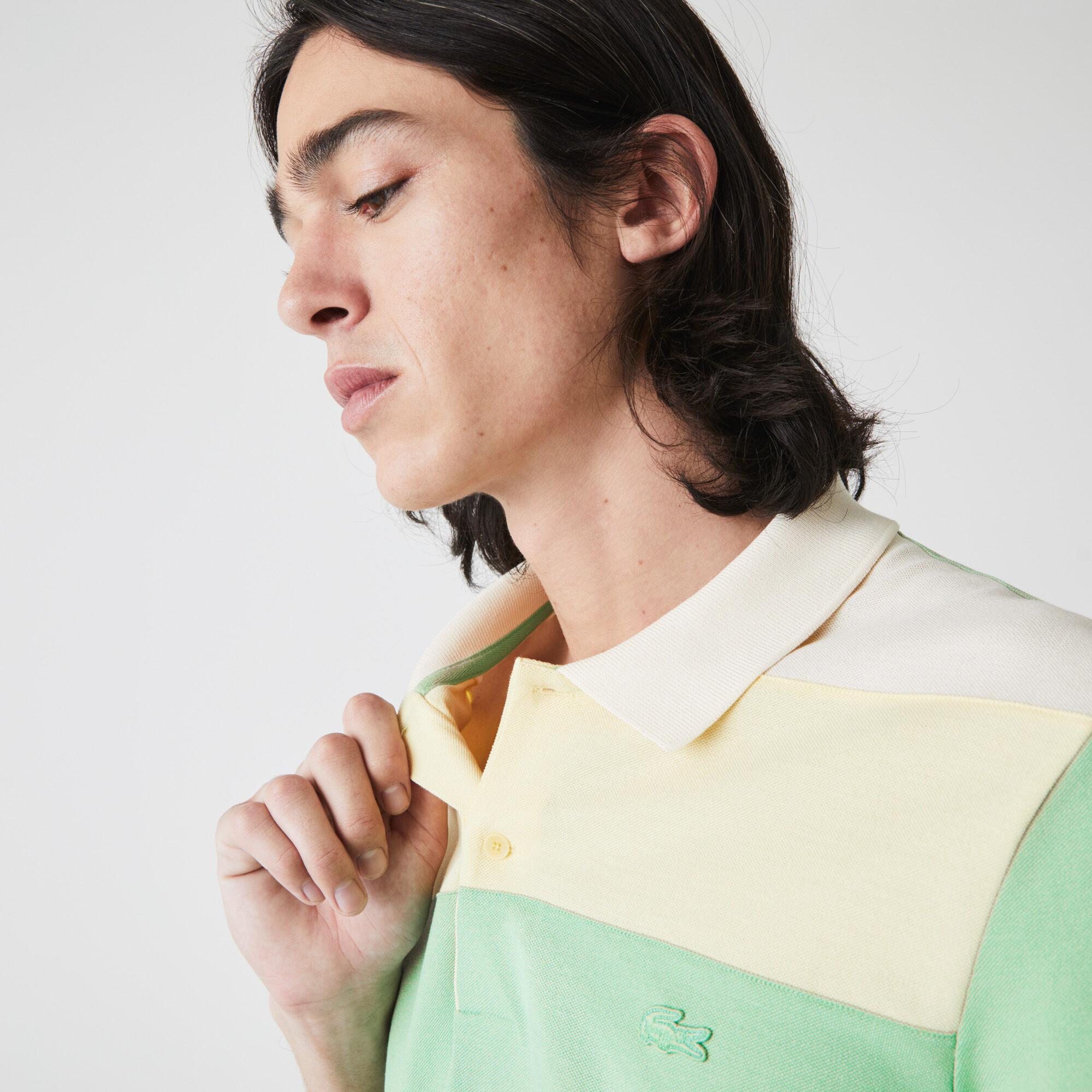 Men's Lacoste Regular Fit Fresh Colorblock Cotton Piqué Polo