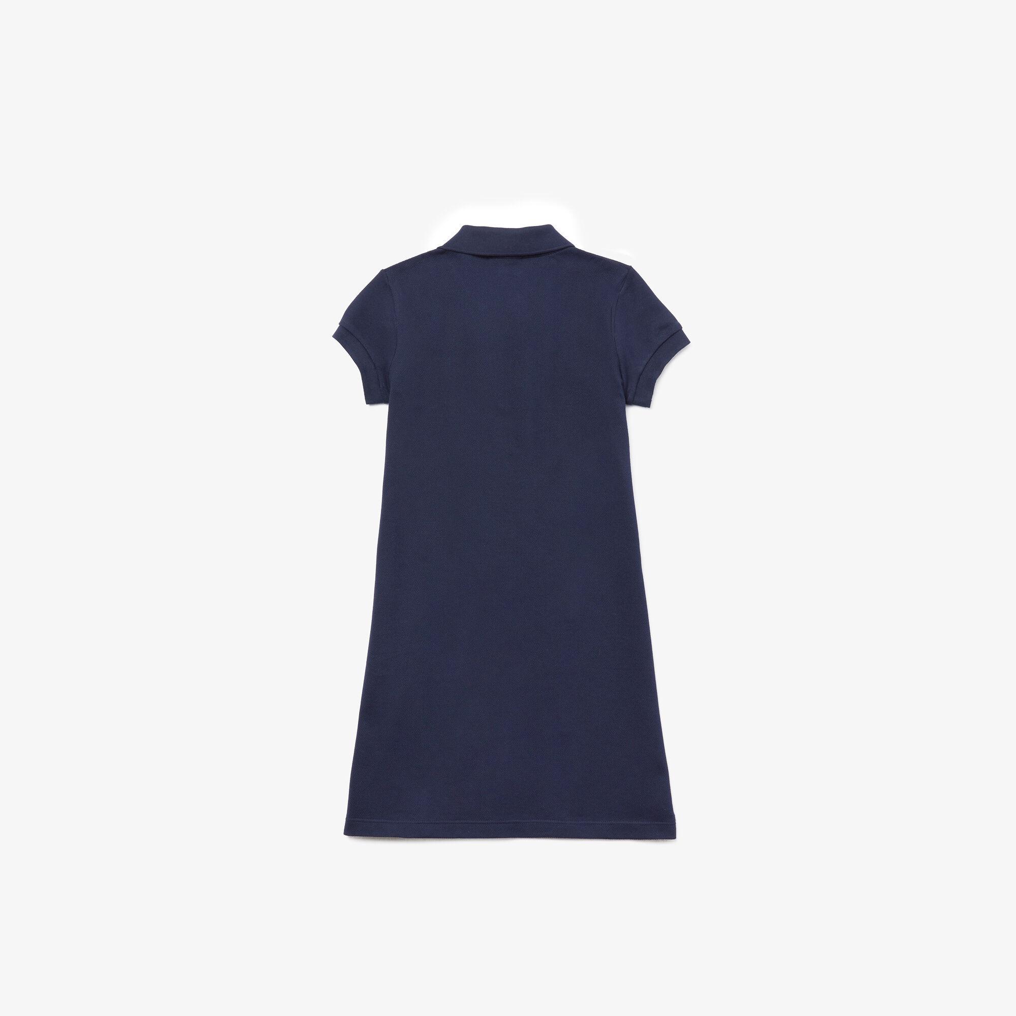 Girl's Polo-Style Cotton Dress