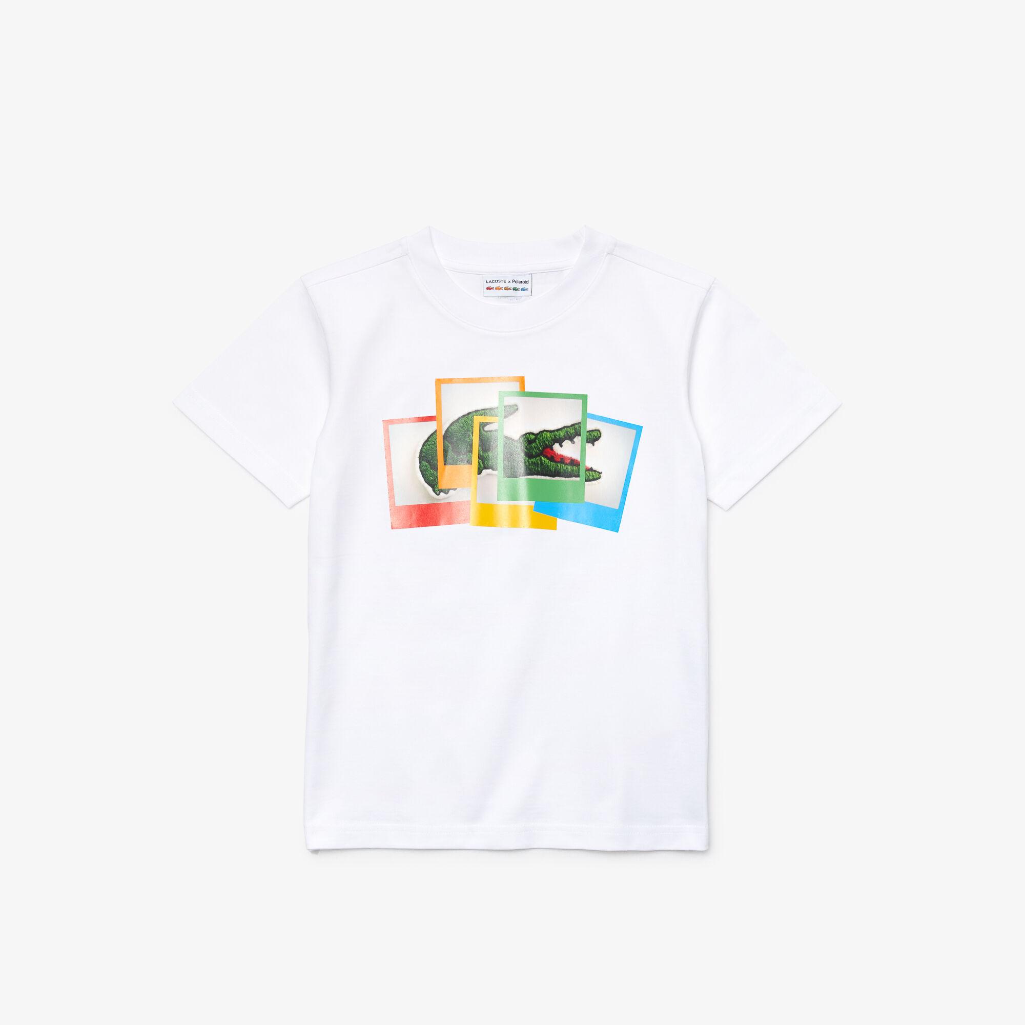 تي شيرت قطن للأولاد مع شعار Polaroid