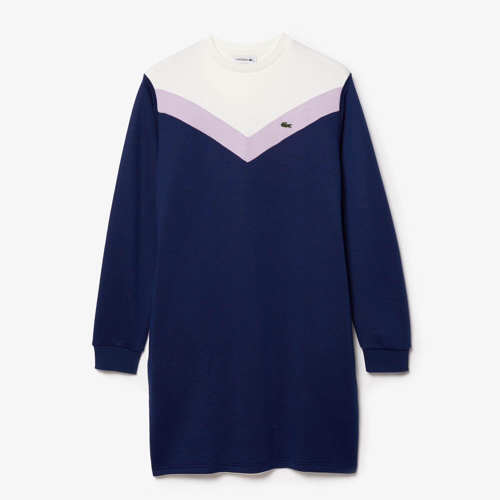Women's Colourblock Fleece Sweatshirt Dress