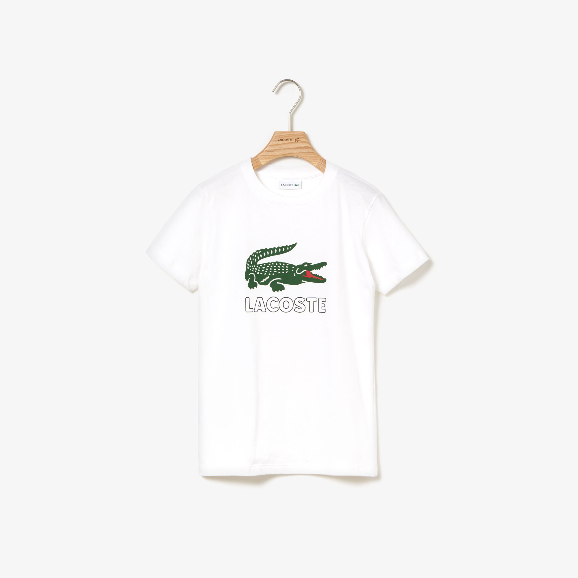 Boys' Crew Neck Crocodile Print T-shirt