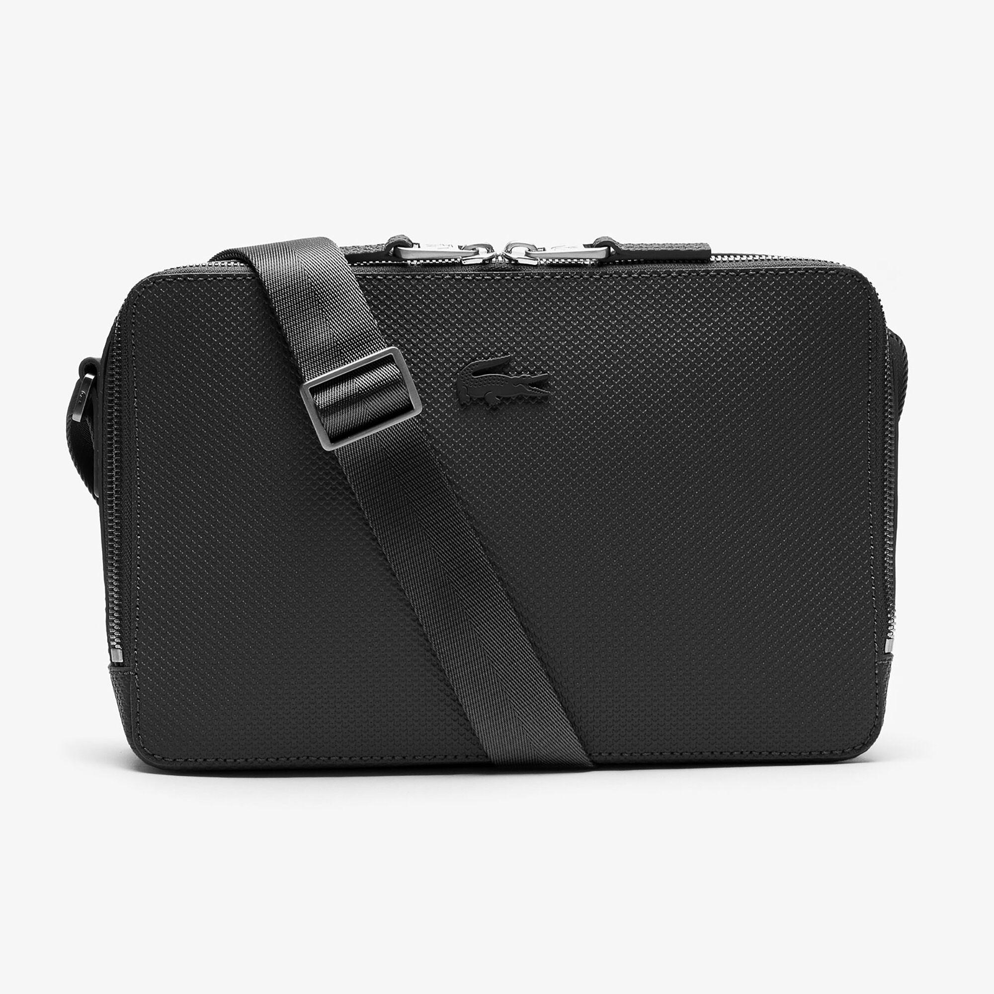 حقيبة كروس بسحاب من الجلد المخيط غير اللامع مجموعة Chantaco للرجال
