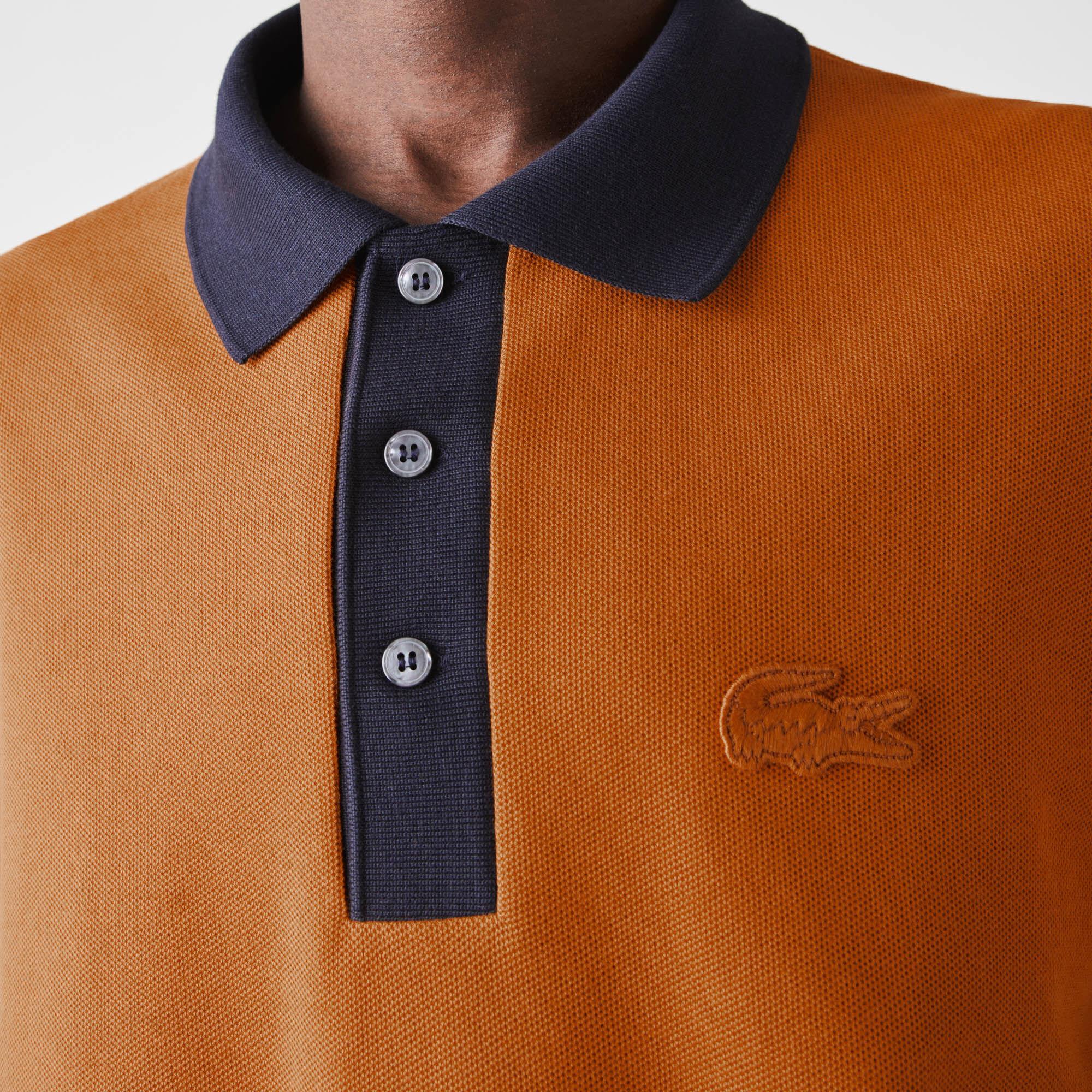 Men's Lacoste Loose Fit Textured Cotton Piqué Polo
