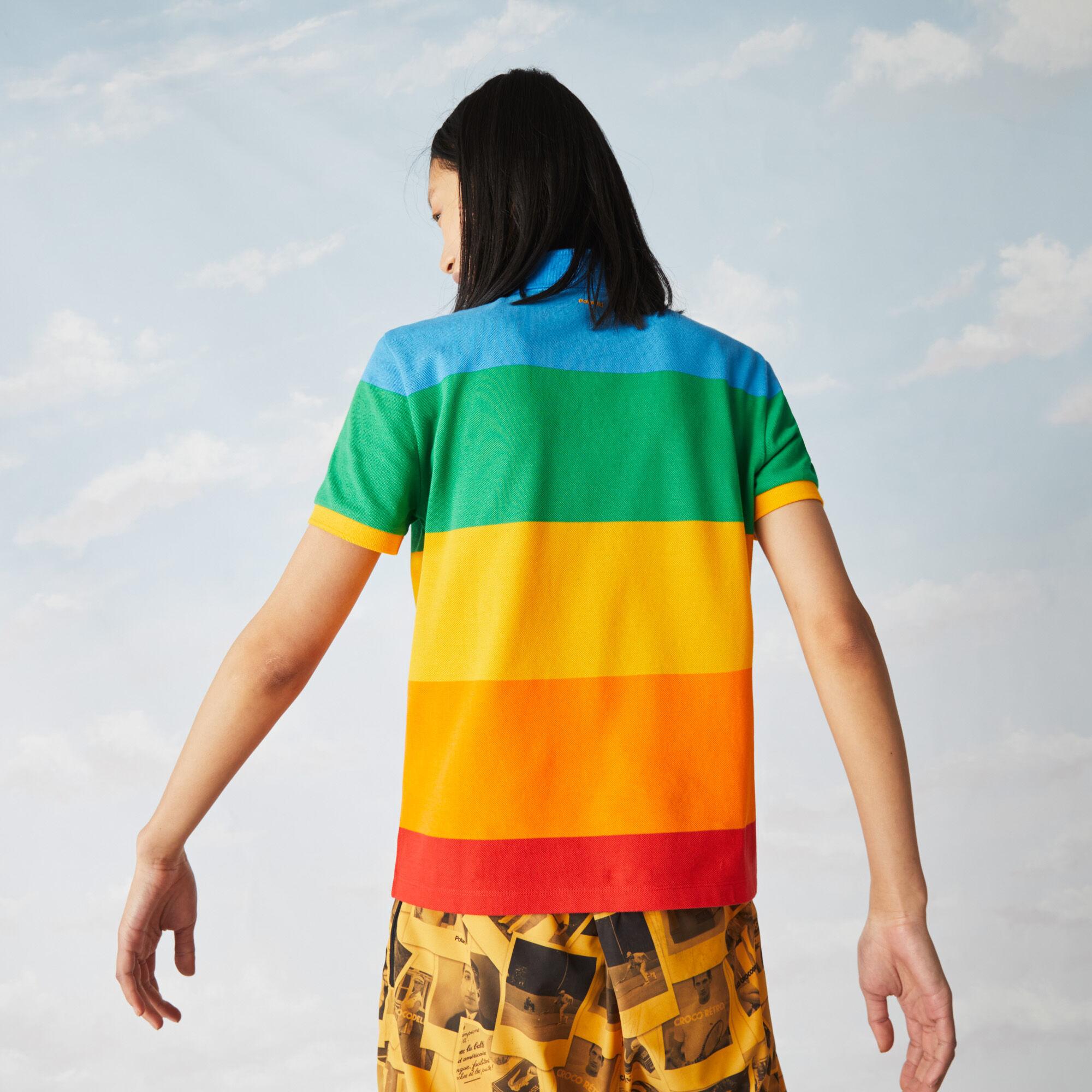 Women's Polaroid Collaboration Color Striped Regular Fit Polo