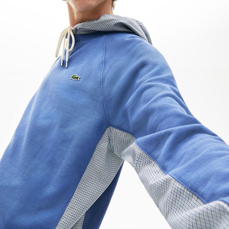 قميص ثقيل للرجال من الصوف مع كلمة Lacoste المزركشة بألوان متعددة